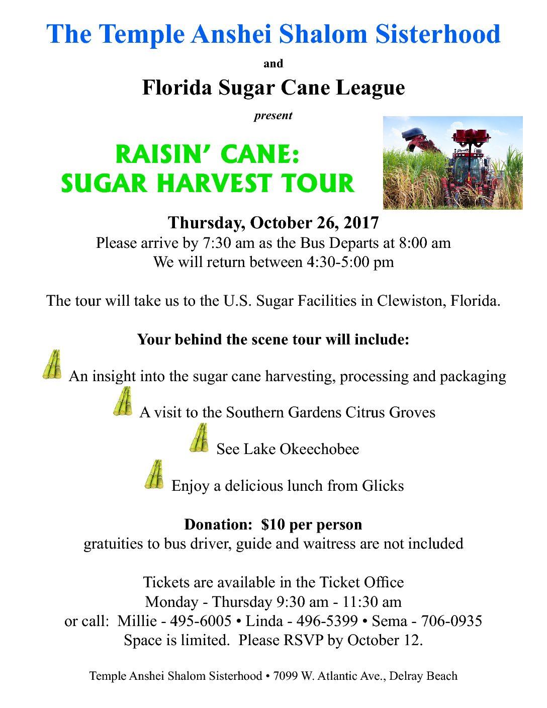 Raisin' Cane: Sugar Harvest Tour