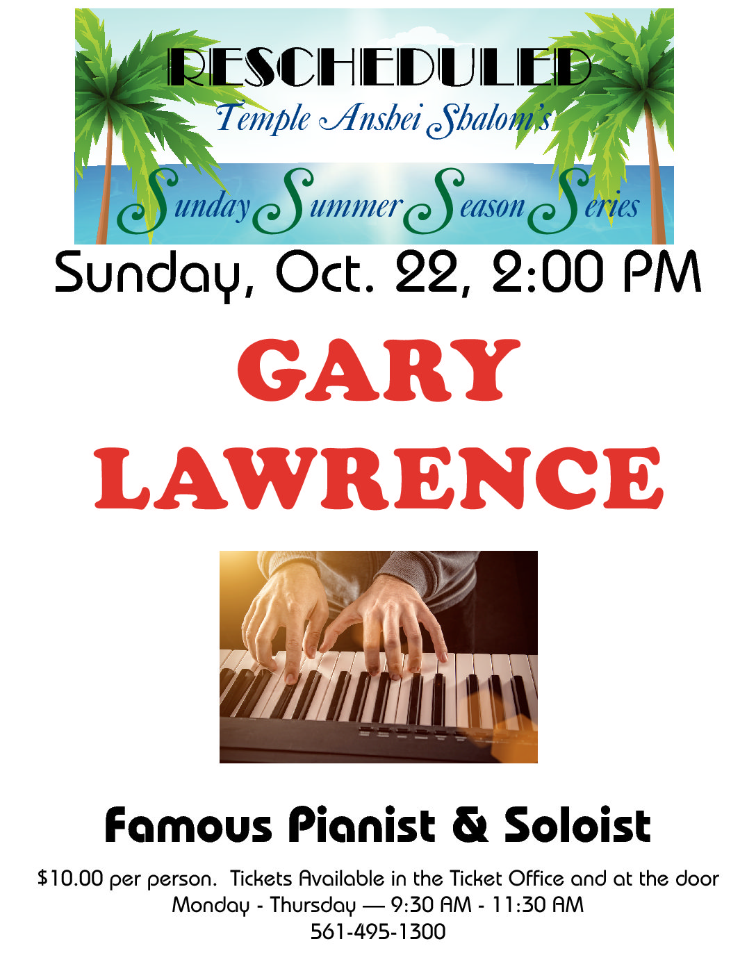 Sunday Series - Gary Lawrence - Rescheduled