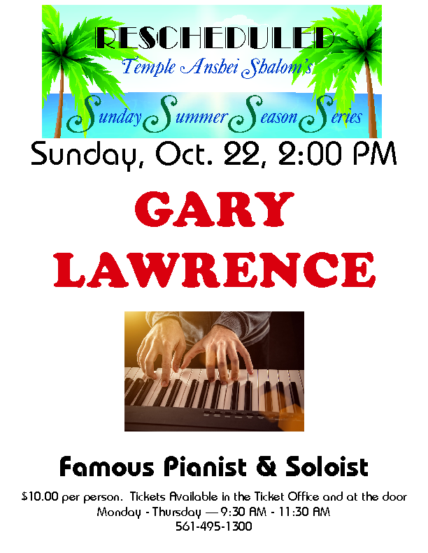 Gary Lawrence (Rescheduled)