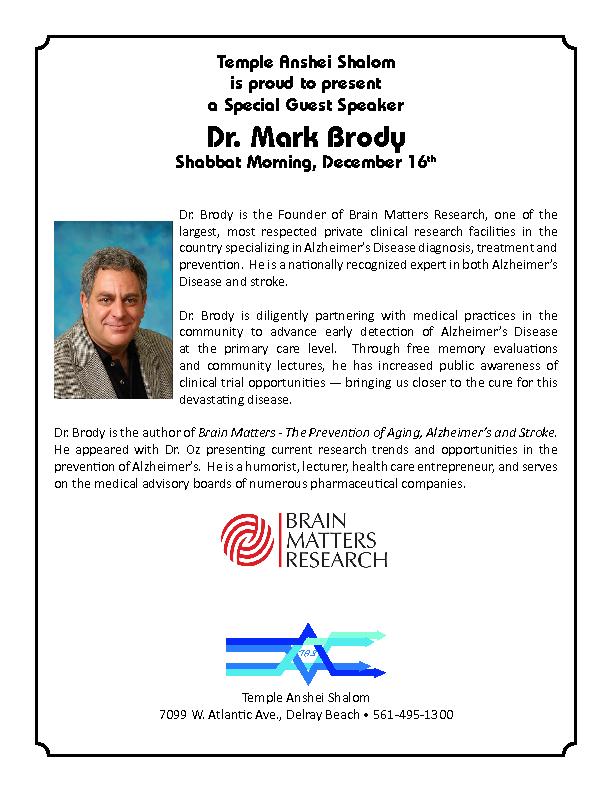 Dr. Mark Brody Special Guest Speaker