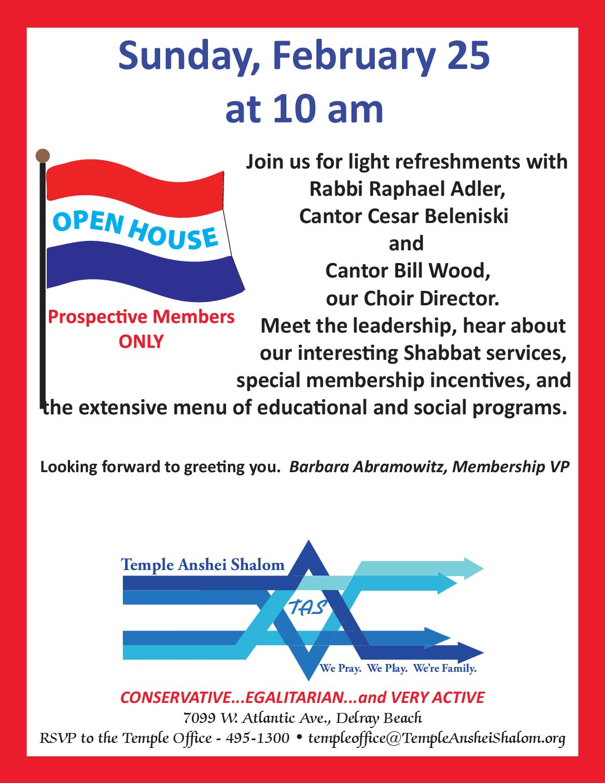 Tas Open House Temple Anshei Shalom