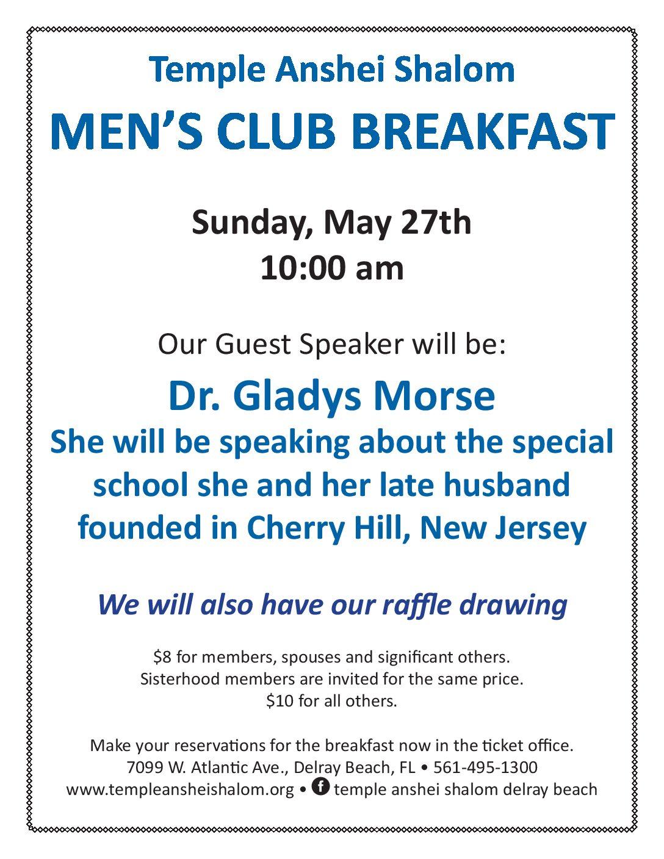 Men's Club Breakfast