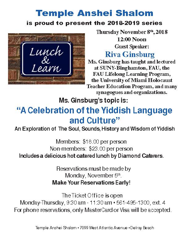 Lunch & Learn – November